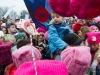 The young boy in blue looks on at the sea of pink hats surrounding him, most likely too young to understand fully what is happening around him at the Women's March on Washington on Saturday. (THE EYEOPENER/Andrej Ivanov)