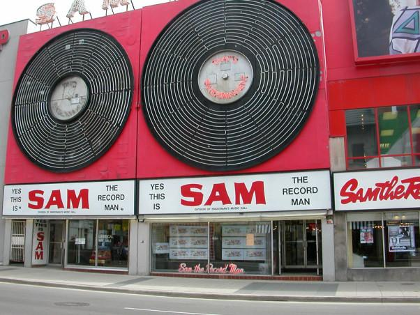 The Sam the Record Man sign.