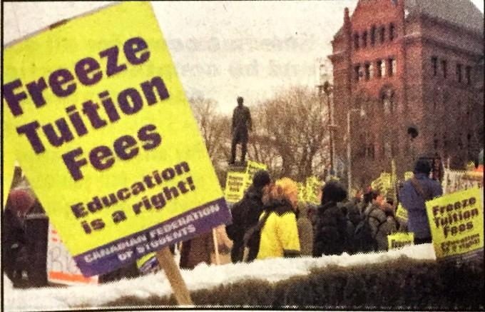 Freeze the fees protest FILE PHOTO