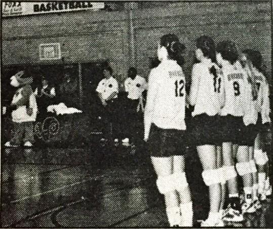 Graduating Women's volleyball