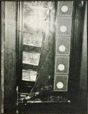 Broken vending machine