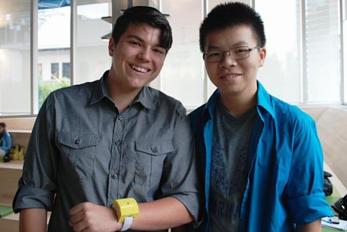 HelpWear co-founders Andre Bertram, left, and Frank Nguyen. By David Lao
