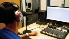 Mitch Stark hones his radio skills through his co-op with The Scope. PHOTO: Lulu Tanenbaum