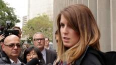 Taryn Skinner, Christopher's sister, speaks to the media after the Oct. 5 trial. PHOTO: Jake Scott