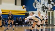 The Ryerson Rams women's volleyball team defeated the Brock Badgers on Oct. 23. PHOTO: NICK DUNNE