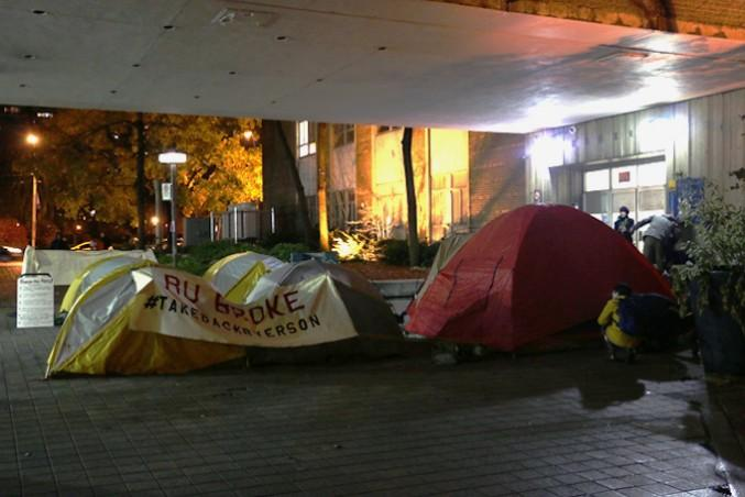 In-tents dedication to politics. Pun courtesy: Mohamed Omar. PHOTO: Rob foreman