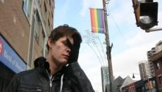 Mitchell Thompson in the gay village