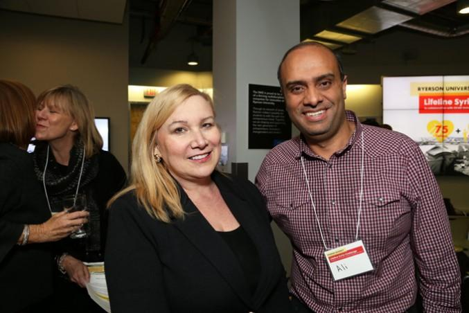 Wendy Cukier and a sponsor, Ali Ebrahim. PHOTO COURTESY: WENDY CUKIER
