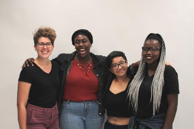 Feminist Collective members show their BodyPosi. PHOTO: DEVIN JONES
