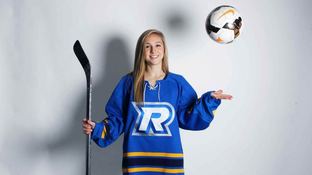 Bethany Clipper is the only athlete to play for two of Ryerson's U Sports teams this season. PHOTO: IZABELLA BALCERZAK