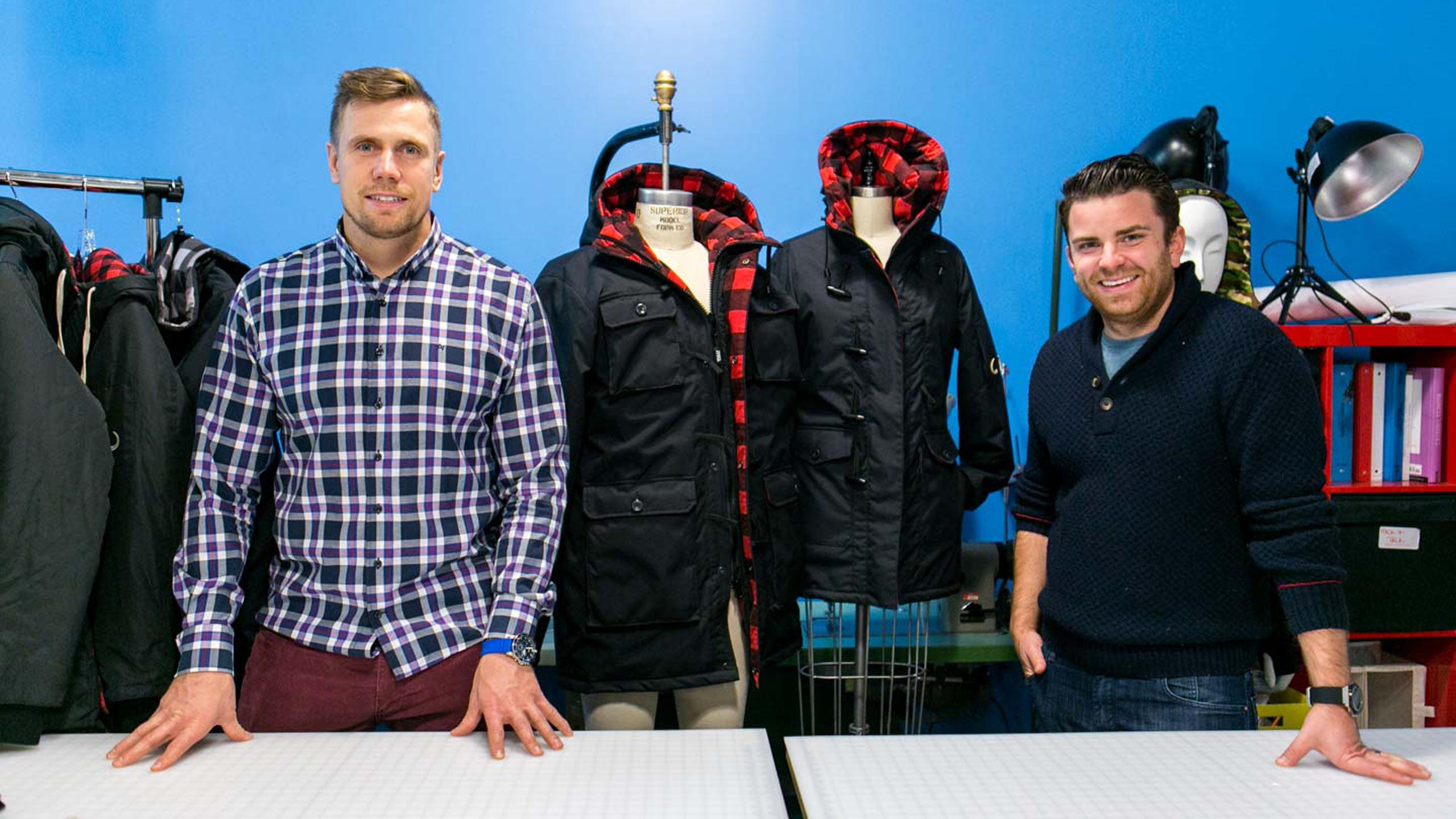 From left, founders of Wully Outerwear, James Yurichuk and Anthony DeBartolo. PHOTO COURTESY WULLY OUTERWEAR