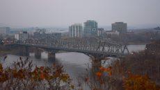 The Alexandra Bridge separating Ottawa and Gatineau. PHOTO: KEITH CAPSTICK
