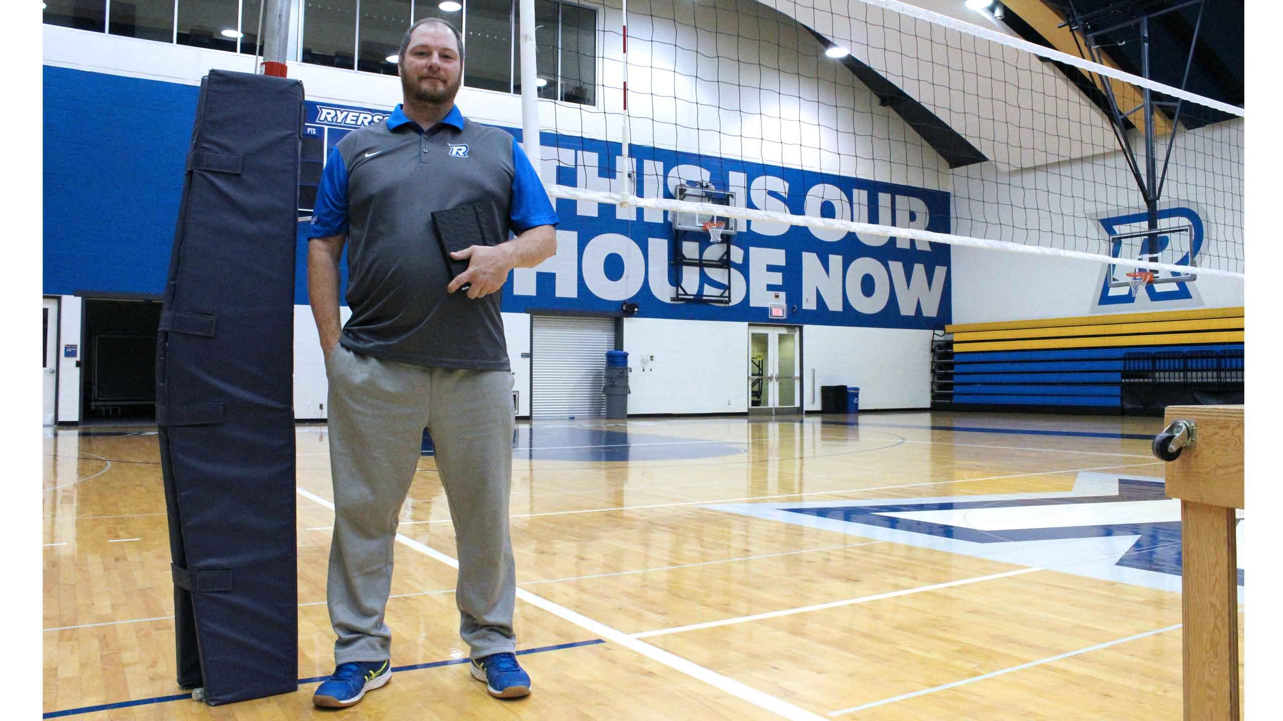 Dustin Reid is the head coach of both Rams volleyball teams. PHOTO: DANIEL ROCCHI