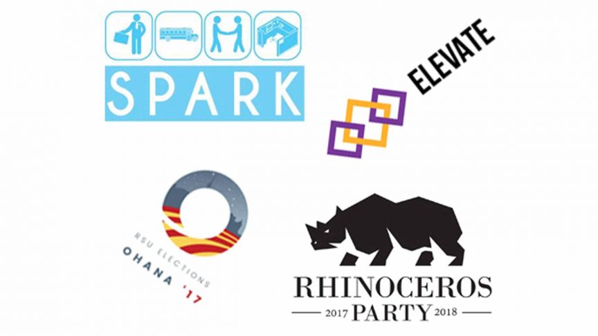 Clockwise from left: Spark, Elevate, Rhinoceros and Ohana. ILLUSTRATION: ANNIE ARNONE