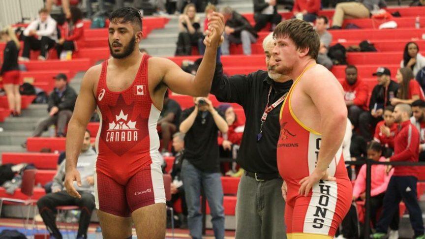 Sunny Narwal wrestles