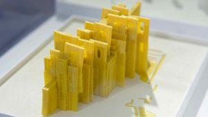 3D print of yellow city