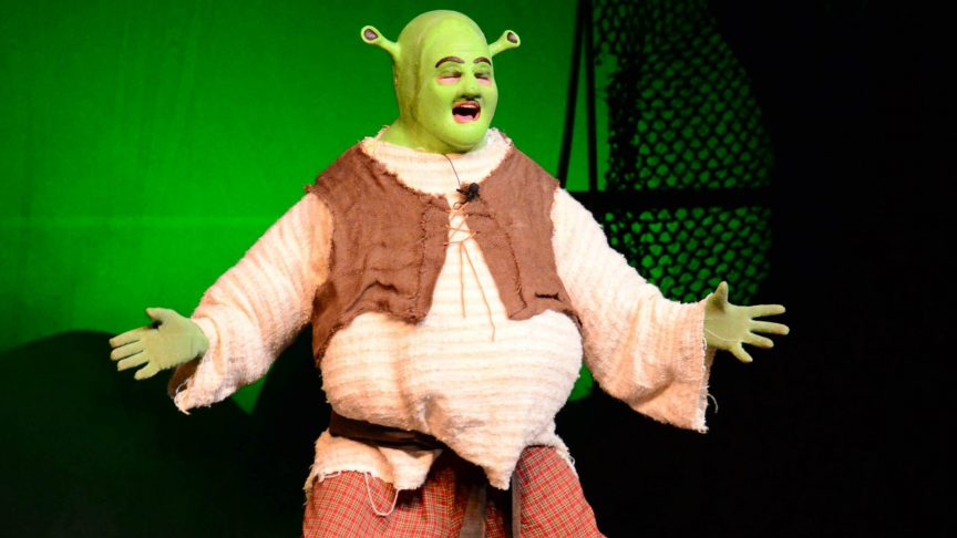 Real life actor impersonating the fictional character Shrek