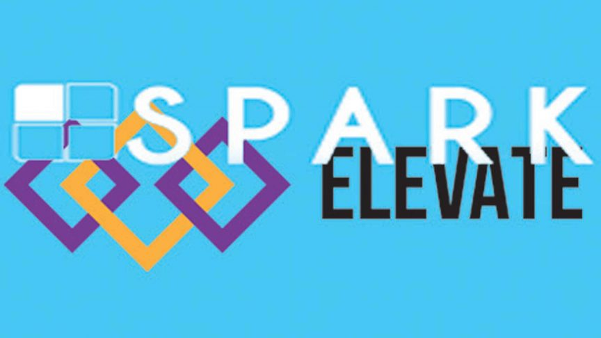 The Spark and Elevate logos. ILLUSTRATION Devin Jones