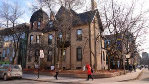 O'Keefe House is a student residence building located at the corner of Gould and Bond streets. PHOTO: Sierra Bein