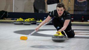 Women's curling on the ice