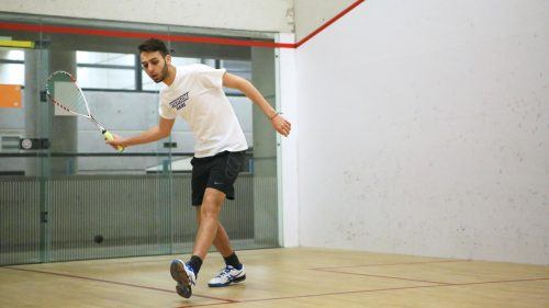 Hekal playing Squash