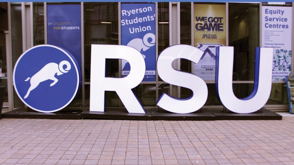 Ryerson Students' Union sign. FILE PHOTO