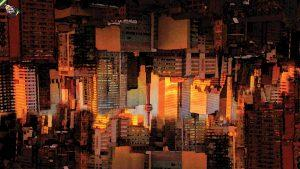 A photo illustration of Toronto