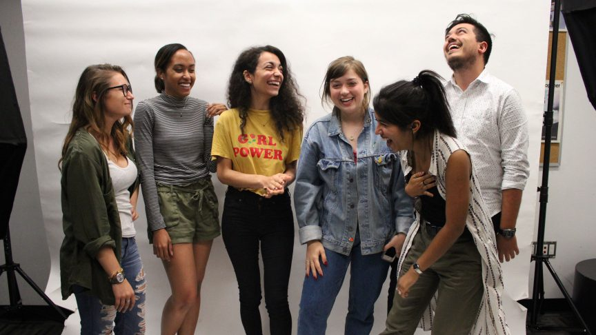 Just your classic stock photo, university friend group. PHOTO: Premila D'Sa