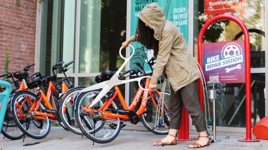 Dropping bikes and breaking hearts. PHOTO: CAMILA KUKULSKI