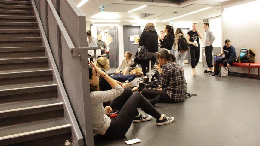 some students don't like studying in a basement. PHOTO: NOUSHiN ZIAFATi
