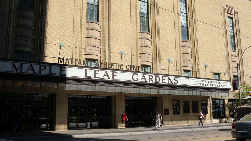 The Mattamy Athletic Centre (MAC) located at the Maple Leaf Gardens. Photo taken from street view.