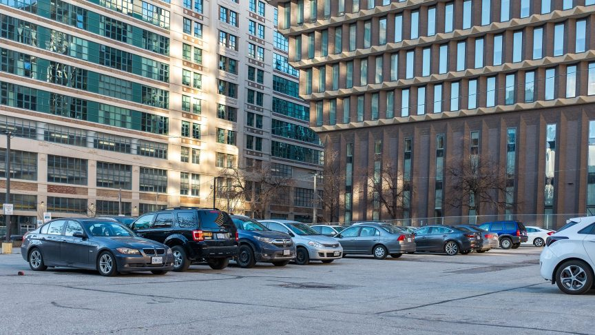 Ryerson proposed a rezoning of their parking lot for the new building.