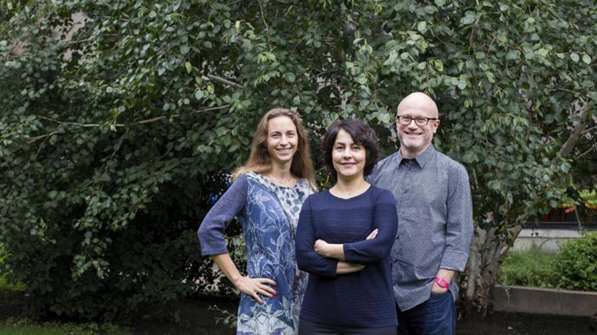 Professors Ali Mazalek, Sharareh Taghipour and David Gauntlett are Ryerson Canada Research Chairs.
