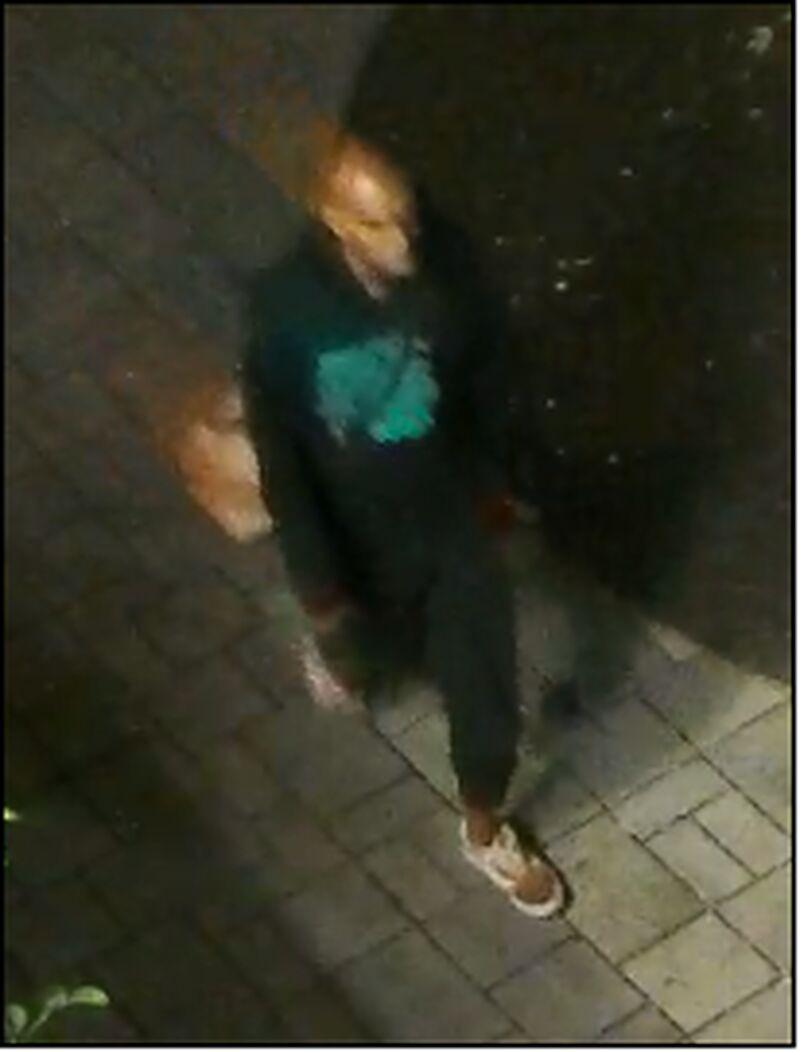 The security camera image of the man Toronto police allege sexually assaulted a 16-year-old.