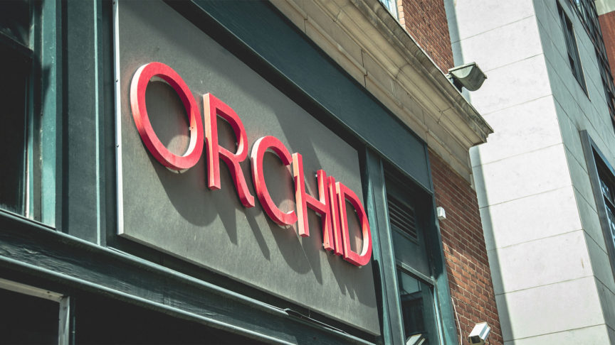 A shot of the outside the nightclub, Orchid during the daytime