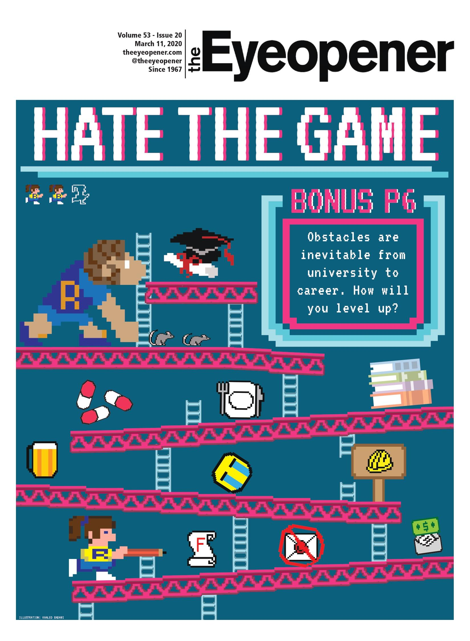 March 11 Eyeopener cover, hate the game