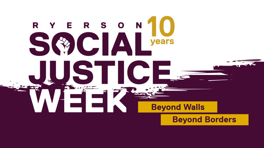 Banner for the 10th Annual Social Justice Week