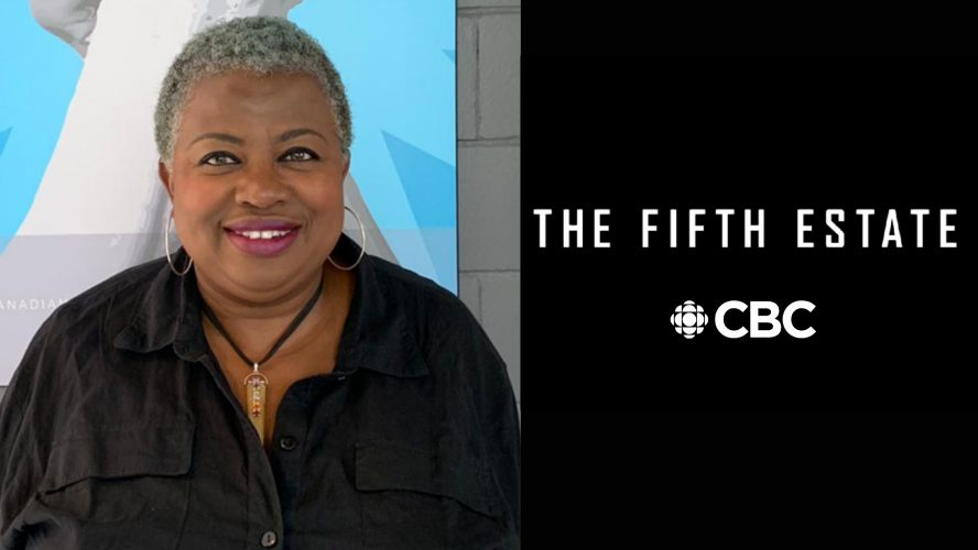 Carol Sutherland, The Fifth Estate and CBC Logo