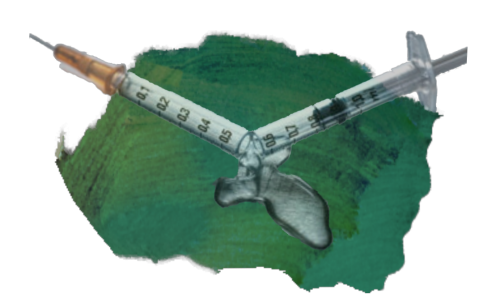 A broken syringe.