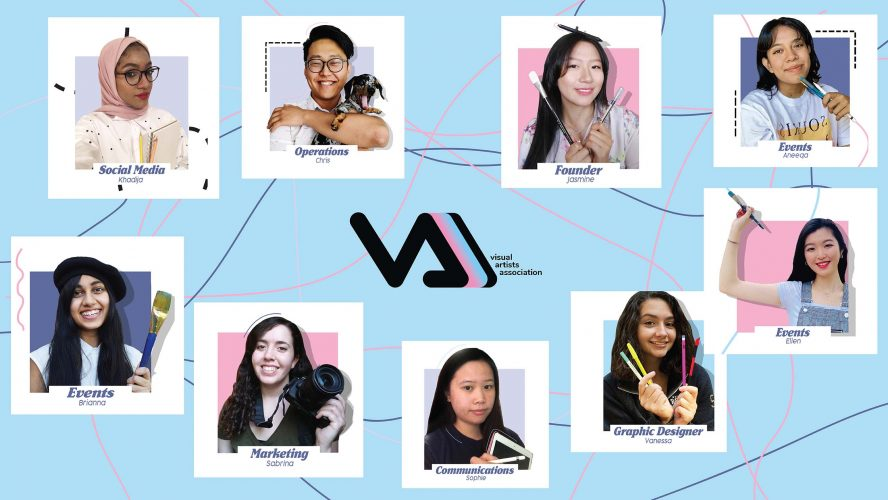 A collage of 9 members of the Visual Artists Association