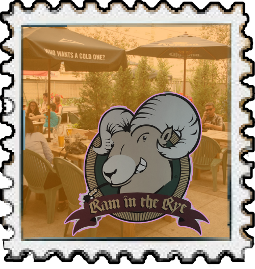 a stamp with the ram in the rye log