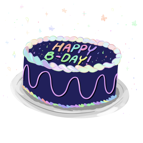 An illustration of a birthday cake.
