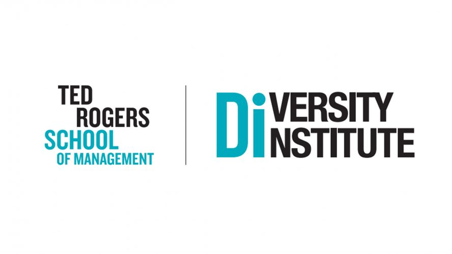 The Ted Rogers School of Management logo and the Diversity Institute logo