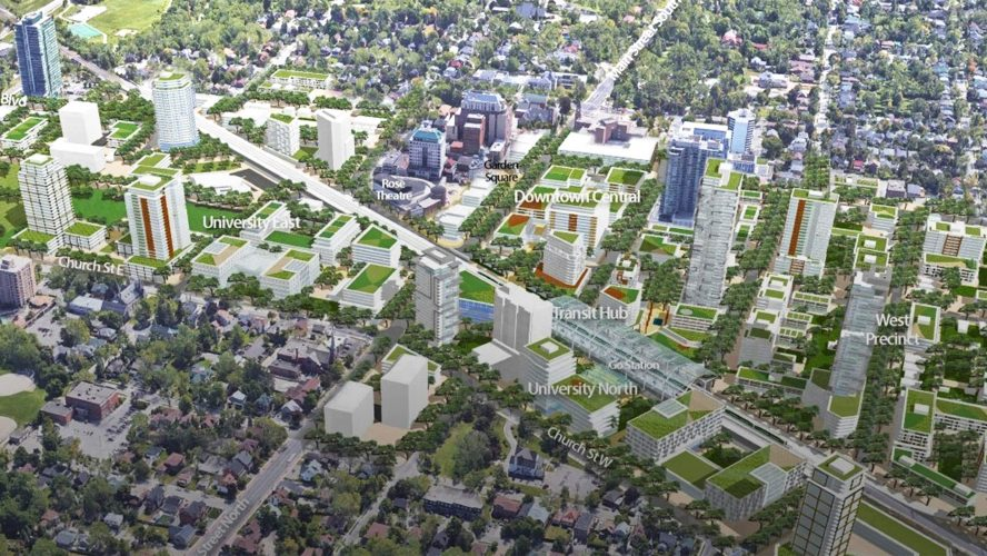 A map showing a plan for the future of downtown Brampton
